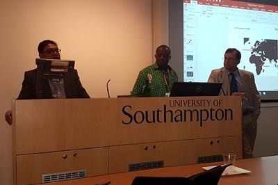 Dr Parwez Hossain, George Wak and Prof Tim Leighton (left to right)