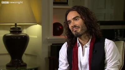 Russell Brand recently spoke of the UK's democratic system on BBC Newsnight