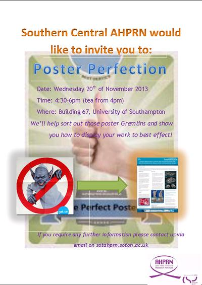 Poster Perfection Workshop