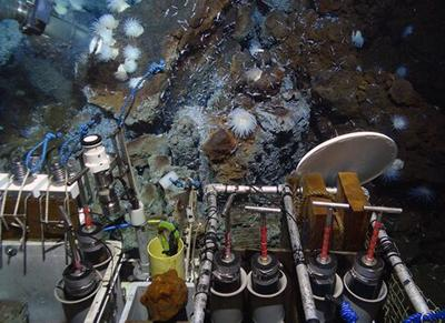Isis ROV working on deep sea vents