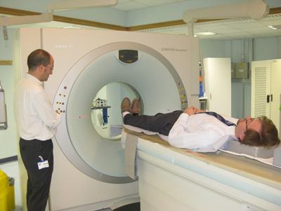 64-Slice HRCT scanner, used for high resolution, anatomical imaging of the lung