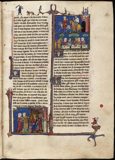 Arthurian Romance illuminated manuscript