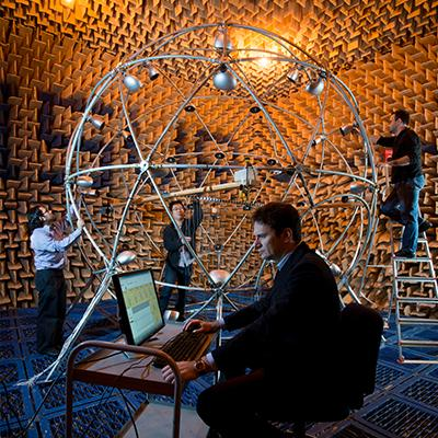 Testing in our anechoic chamber
