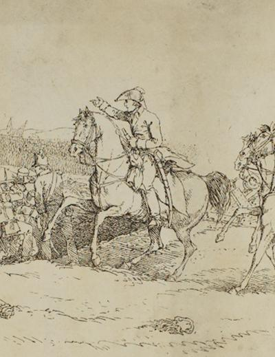 Image of the first Duke of Wellington on horseback