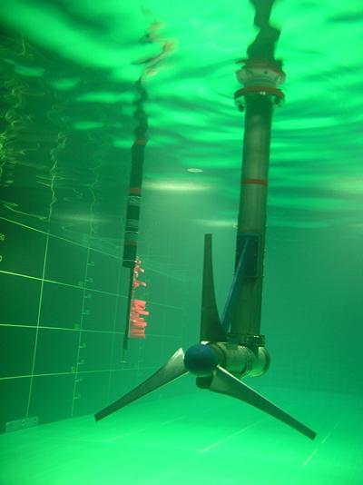 1-20th scale fully instrumented tidal turbine