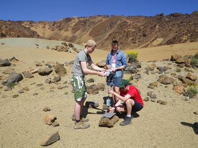 Measuring volcanic materials