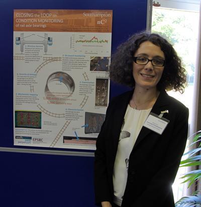 Dr Ilara Corni with research poster