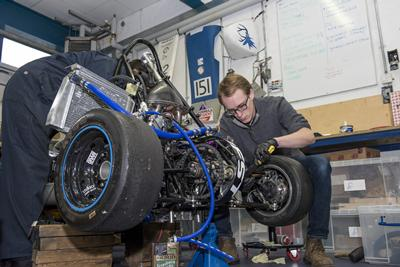 Working on the Formula Student car