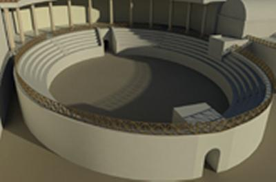 Computer-generated image of the amphitheatre