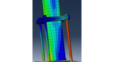 FEM simulation of the rocking behaviour of a simplified damage-free steel column base joint