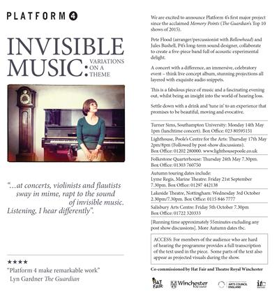 Invisible Music Information Flyer