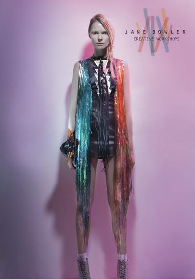 Innovative fashion designer Jane Bowler hosted creative fashion workshops
