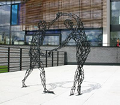 Stunning sculpture graces flagship building