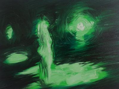 Painting, Beacon, Joy Garnett (2014), oil on canvas