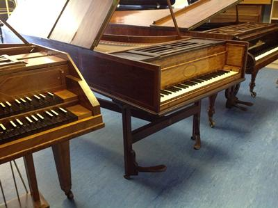 Feldberg harpsichord and Broadwoods of 1796 & 1828