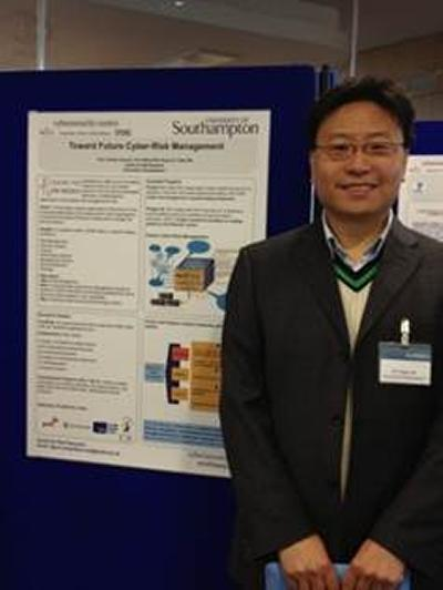 A poster presentation outlining cyber security strategies
