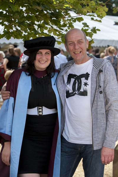 PhD Chemistry graduate Christianne Wicking and sailor father John Wicking
