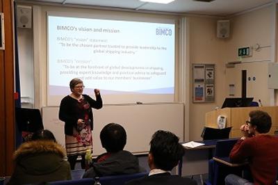 Pernille Kaervad Jacobsen speaking
