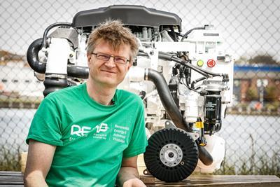 Dr Dennis Doerffel, REAPsystems, with the hybrid engine