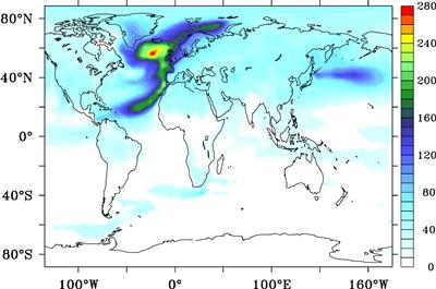 Defined as the time needed for surface air temperature to recover its values from 1990-2000