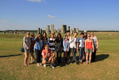 Summer School students at Stonehenge