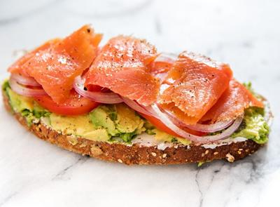 This sandwich is filling, tasty and fully of vitamin D