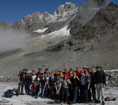 BSc Geography students in Arolla