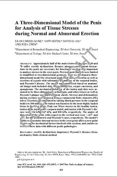 Image of documentation describing tissue stress