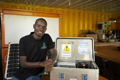 Timothy with his Eco Water Purifier