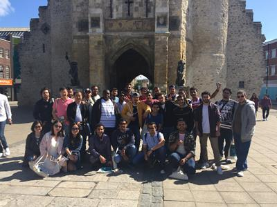 Previous students visiting Southampton Bargate