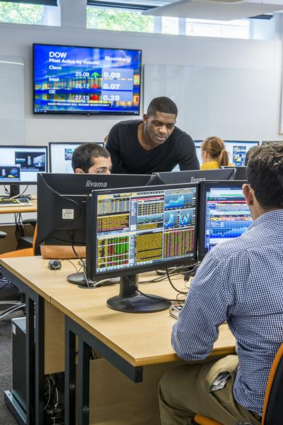 Economics students and academic staff can now use 24 sophisticated real-time computer terminals