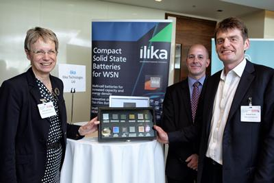Photo left to right: Professor Judith Petts, Steve Boydell and Graeme Purdy, Ilika Technologies.