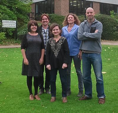 From left to right: Dr Eleanor Wilkinson, Dr Bradley Garrett, Dr Julie Vullnetari, Dr Marije Schaafsma and Dr James Dyke