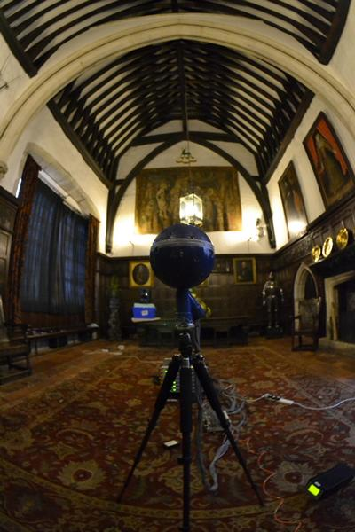 Measuring the acoustics at Ightham Mote, a medieval house in Kent