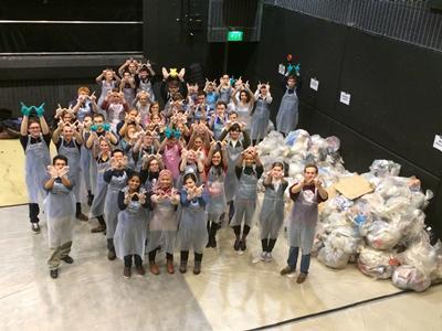 Dozens of waste warriors