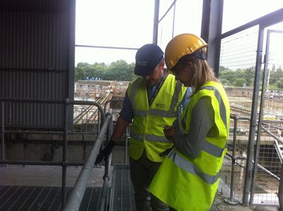 Dr Charlotte Veal visiting a Southern Water waste treatment works
