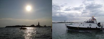 (a) Venice Lagoon and (b) CNR's LITUS coastal research vessel