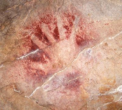 Hand stencil from El Castillo, Spain