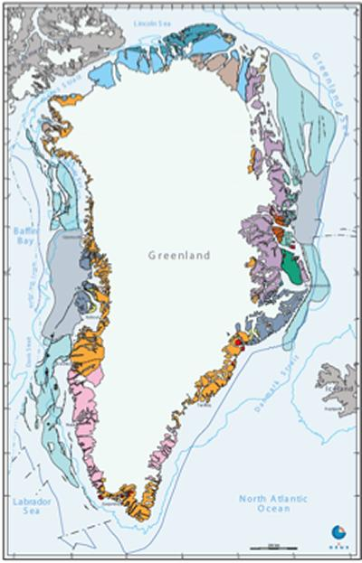 The geology of Greenland is geographically distinct allowing iceberg source terranes to be identified geochemically.