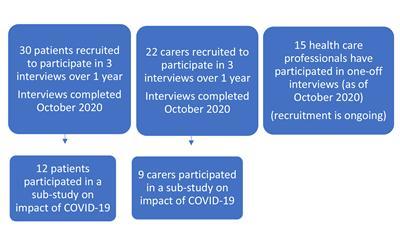 Summary of study progress to date, October 2020