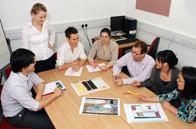 Image of audiology students