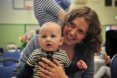 Lara Richardson and baby Oliver