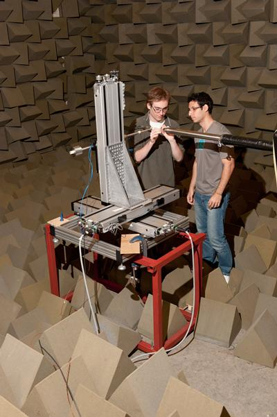 Doak laboratory is fully equipped for making both noise measurements in an anechoic environment  and aerodynamic measurements such as hot wire measurements of jet turbulence.