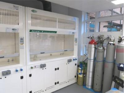 Two metal-free fume cupboards for sample preparation and acid handling