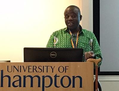 Dr George Wak presenting a seminar