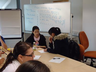 Students at Focus Group B