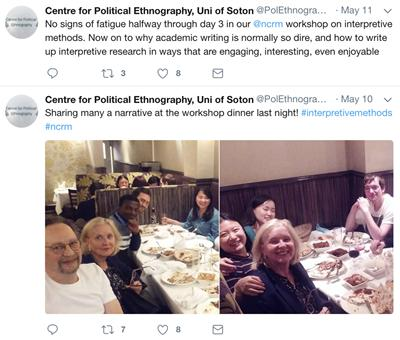 twitter feed for cpe interpretive political science course