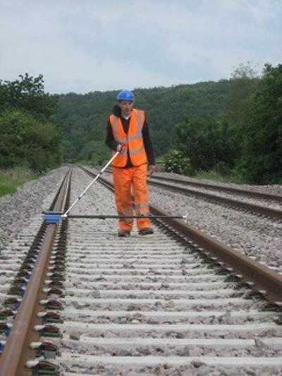 Measuring rail roughness