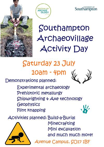 Southampton Archaeovillage Activity Day