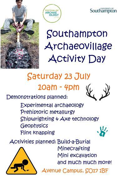 Southampton Archaeovillage Activity Day